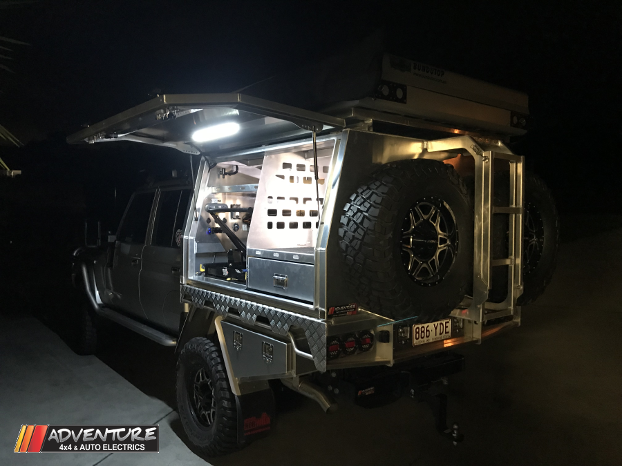 Toyota_landcruiser_Adventure_lithium_enerdrive_dual_battery_system_canopy_fit_out_79series
